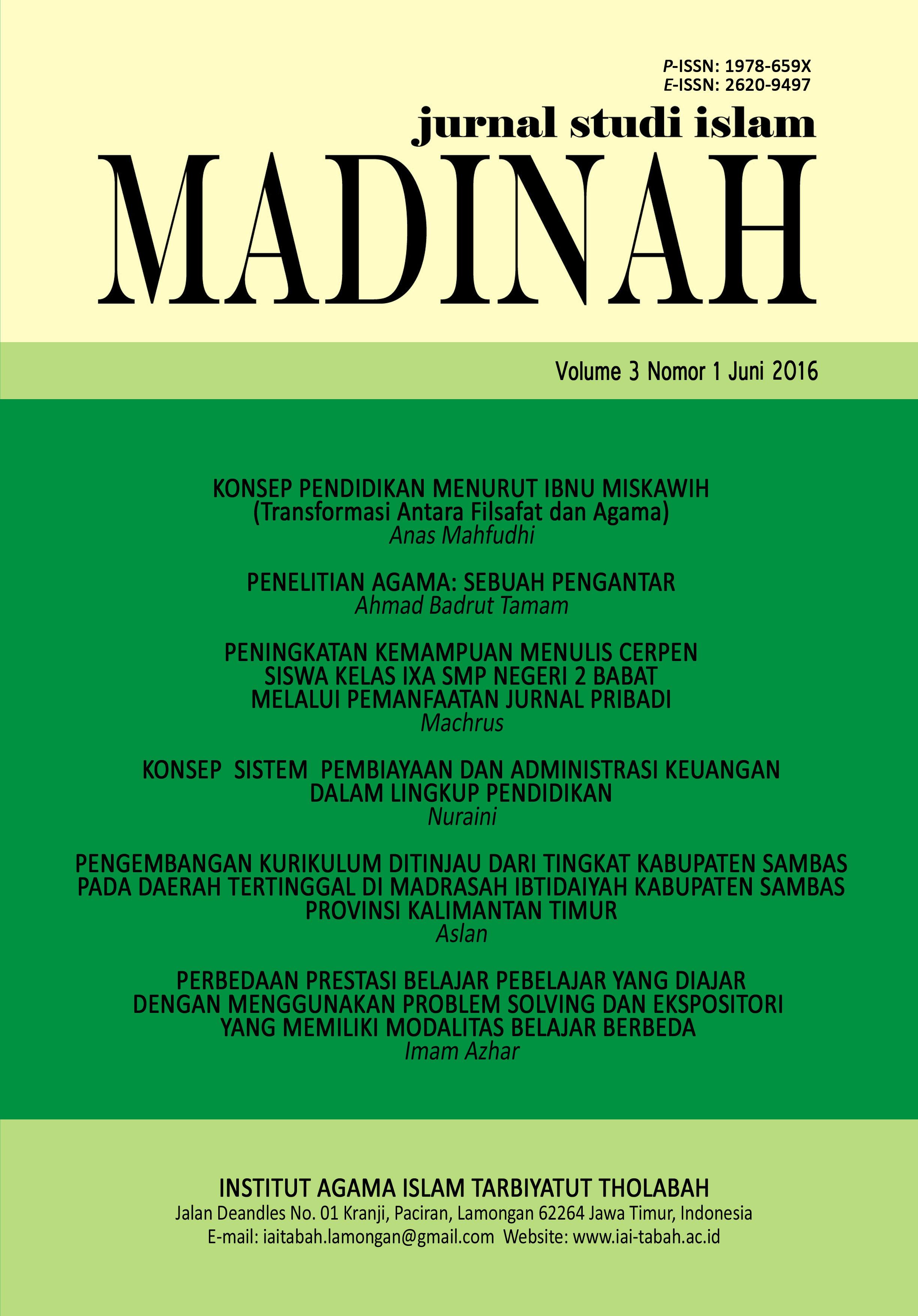 Archives Madinah Jurnal Studi Islam